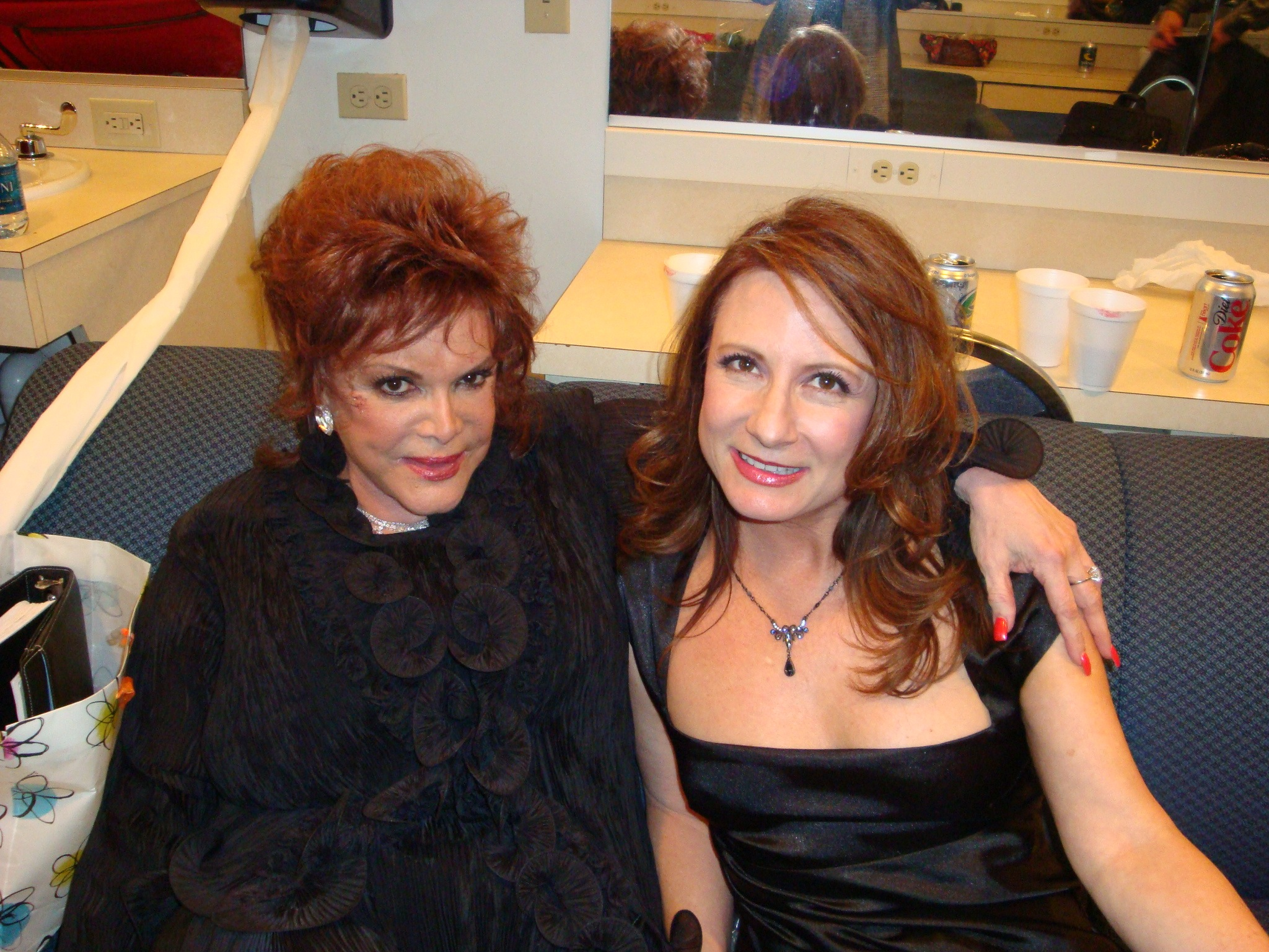 In the green room with Connie Francis